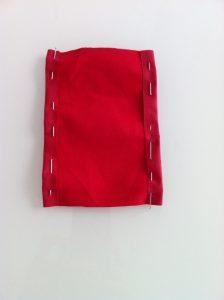 rentré épinglée de la poche en tissu enduit