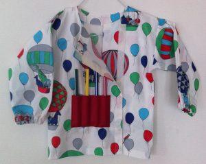 blouse de peinture déscratché ouverte à moitié