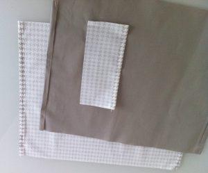 Simple rentré marqué sur les 2 tissus et sur la poche