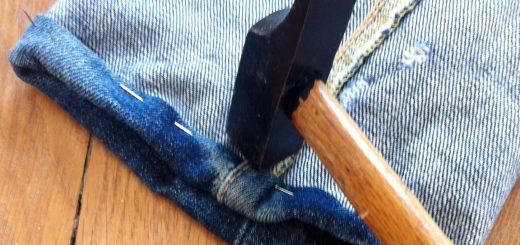 Comment aplatir la double épaisseur avec un marteau.