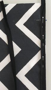 Aperçu de la pose de l a1 ère partie du zip.