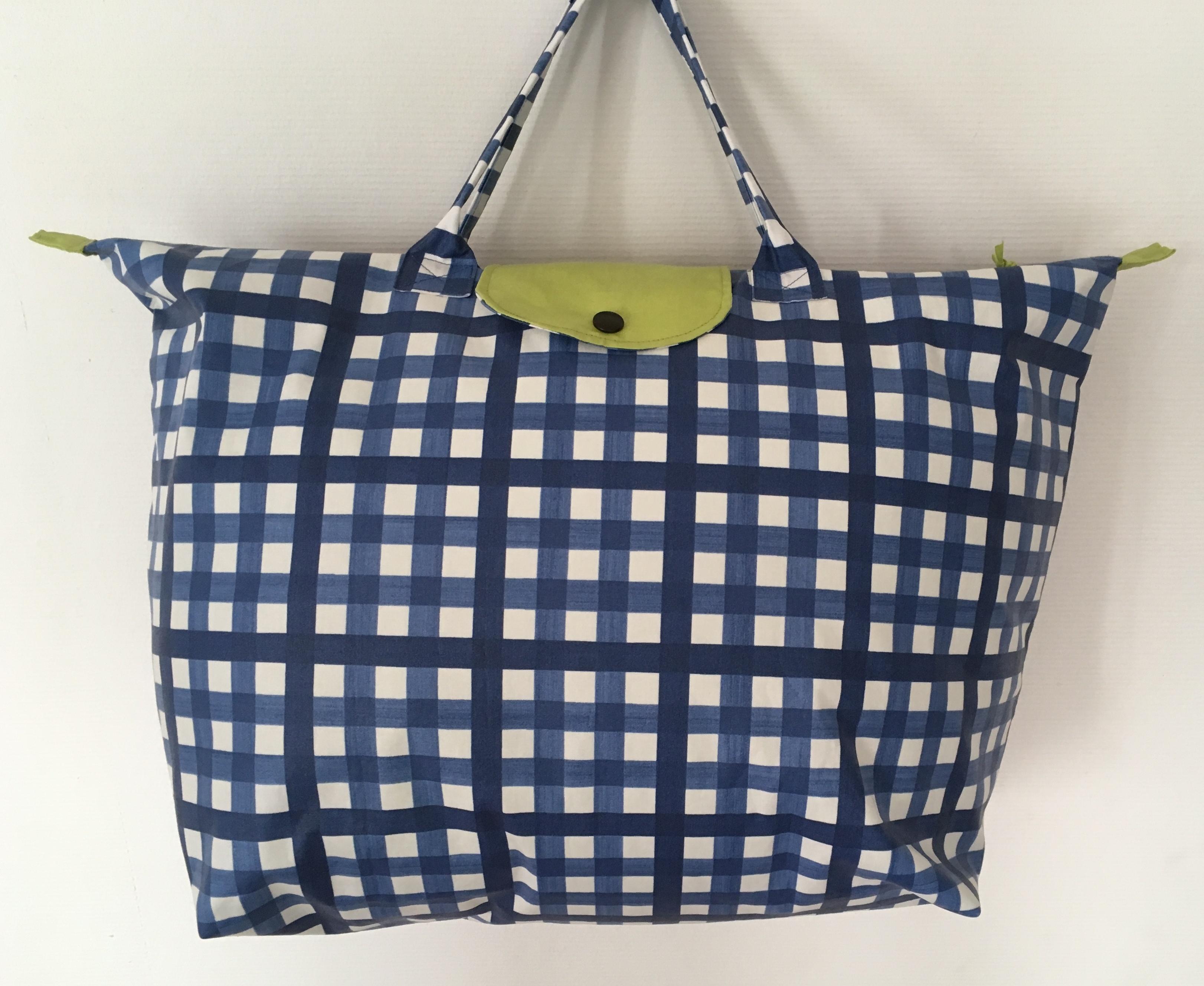 Le grand sac de voyage guinguette bleu.