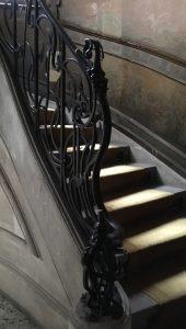 escalier en fer forgé.