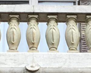 Balustre du garde-corps.