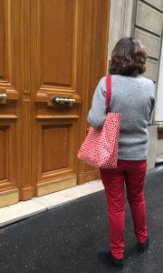 le sac cabas mosaique rouge.