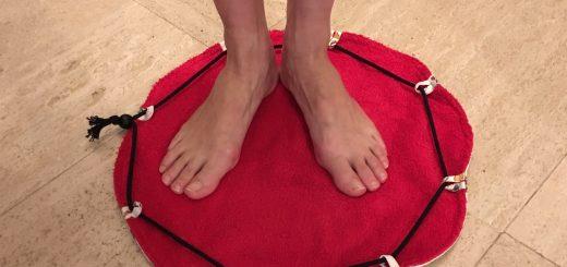 Tapis pour pieds au sec.