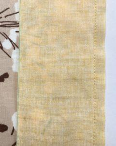 bande jaune assemblee au grand rectangle