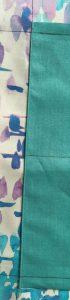 Detail de la poche cousue.