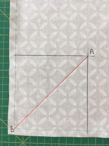 Tracer la diagonale de A a B.