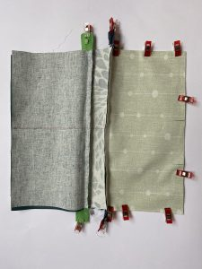 Assembler la poche vert pale