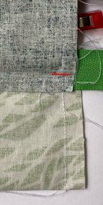 Coudre jusqu au zip vert.