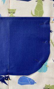 detail de la poche sans rentre