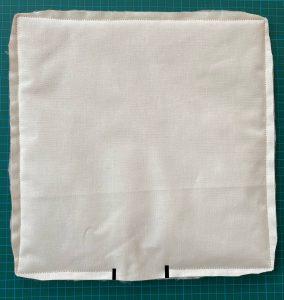 Couture d assemblage du vide poche ou organiseur matelasse