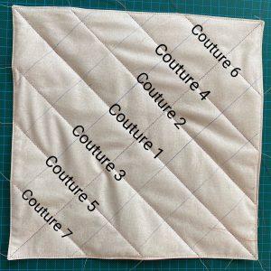 Disposition des lignes du vide poche ou organiseur.