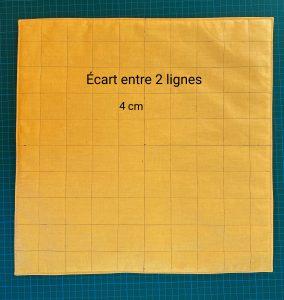 Tracer les lignes de matelassage.Ecart 40cm.