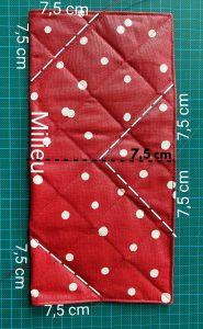 Mesurer 7.5 cm cote milieu.Tracer 1 diagonale