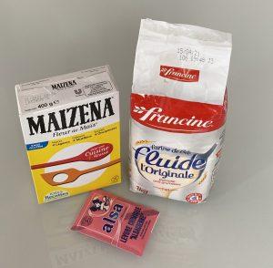 Farine maizena et levure chimique