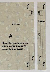 Coloque as 4 casas de botão a 5 cm da borda
