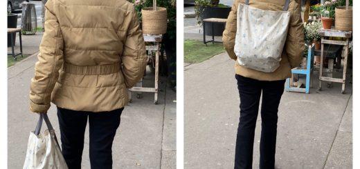 Mon sac cabas tote bag et sac à dos.
