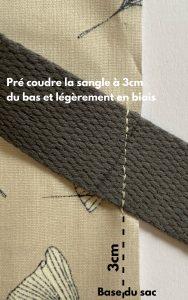 Costure previamente as alças no fundo da bolsa.