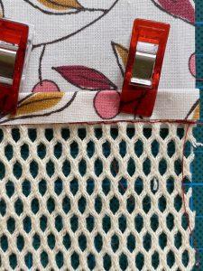 Detail de la couture rabattue